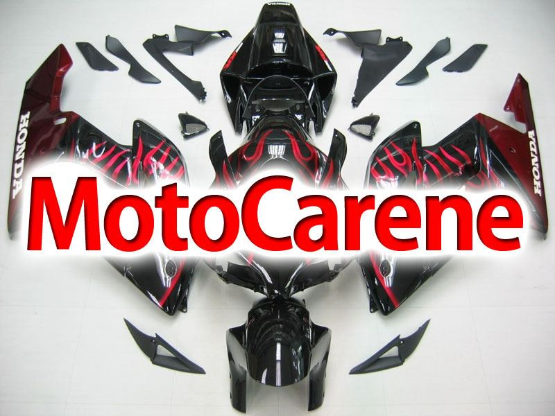 HONDA CBR 1000RR Year 04 05 Carena ABS Kit Bodywork Fairing Art 42 Nera Fiamme Rosse