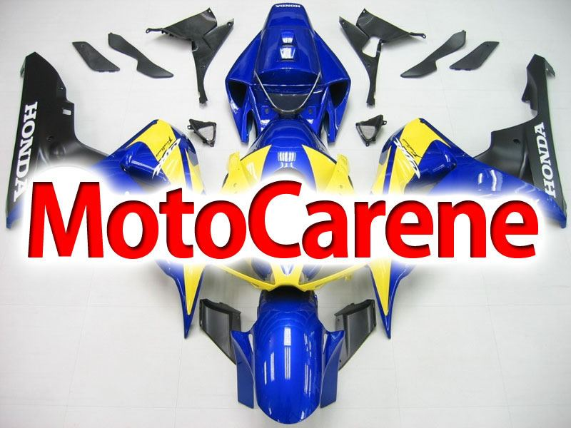 HONDA CBR 1000 RR Year 06 07 Carena ABS Kit Bodywork Fairing Art 06 Blu Giallo