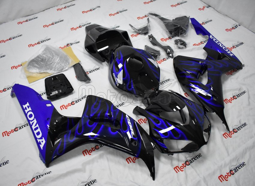 HONDA CBR 1000 RR Year 06 07 Carena ABS Kit Bodywork Fairing Art 40 Fiamme Blu