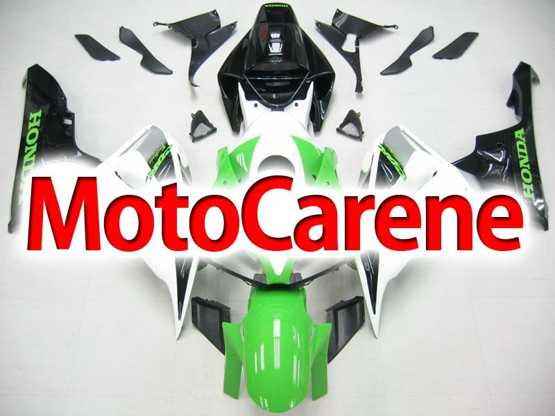 HONDA CBR 1000 RR Year 06 07 Carena ABS Kit Bodywork Fairing Art 42 Bianco Verde Nero