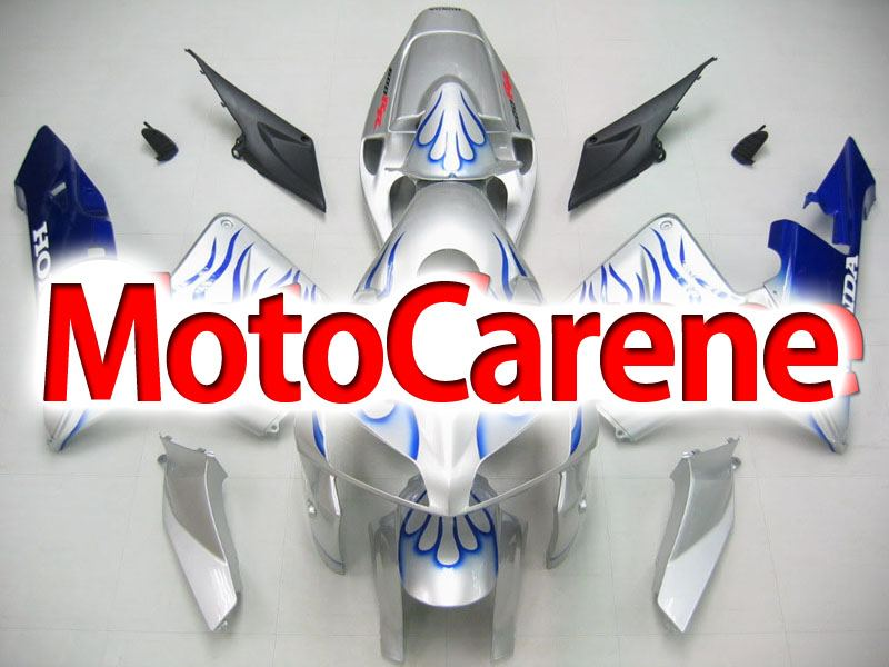 Honda CBR 600 RR 2005-2006 CARENA ABS ART 52 SILVER FIRE BLU