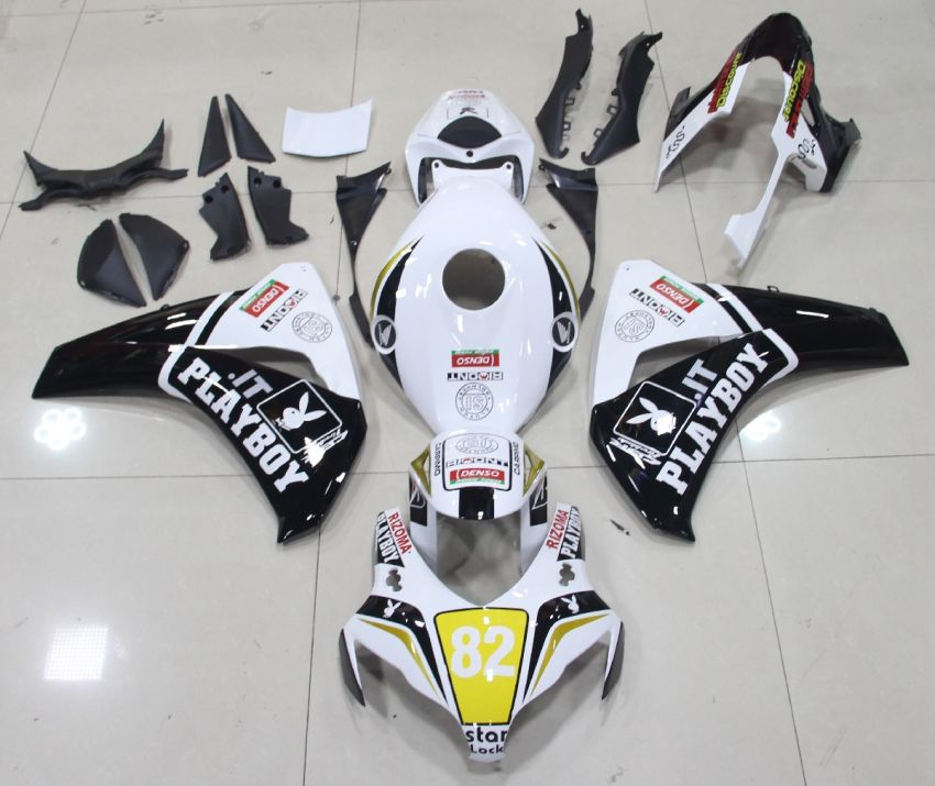 HONDA CBR 1000 RR Anno 08 11 Carena ABS Kit Bodywork Fairing Art 09 Bianco Playboy