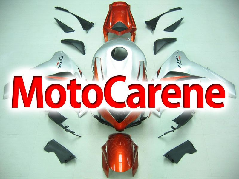 HONDA CBR 1000 RR Anno 08 11 Carena ABS Kit Bodywork Fairing Art 26 Silver Orange