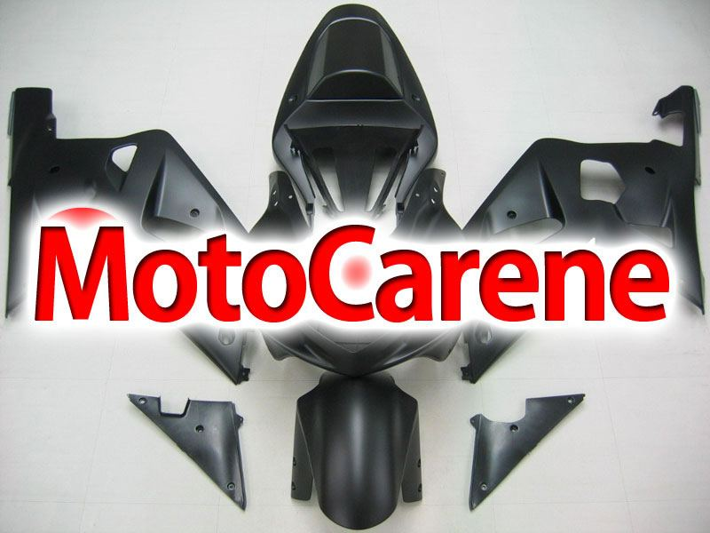 SUZUKI GSX 600 Anno 2001 2003 Carena ABS Kit Fairing Art 19 Nero Opaco totale