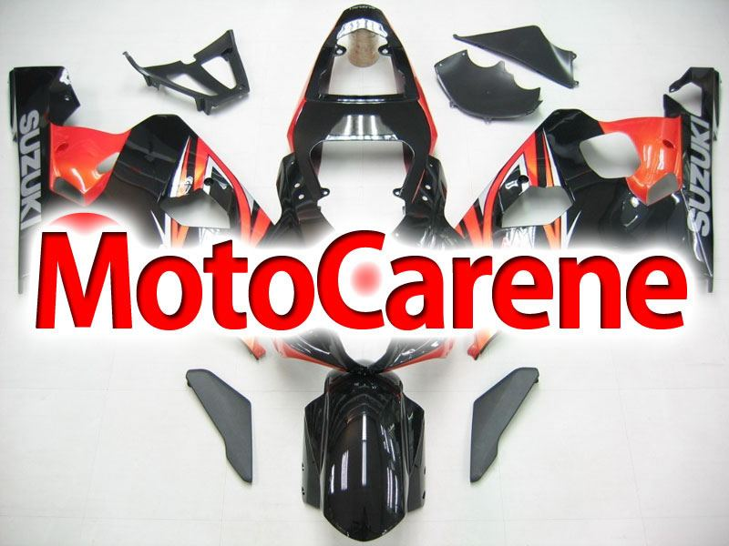 SUZUKI GSX 600 Anno 2004 2005 Carena ABS Kit Fairing Art 20 Nero Mattone Grafica Originale