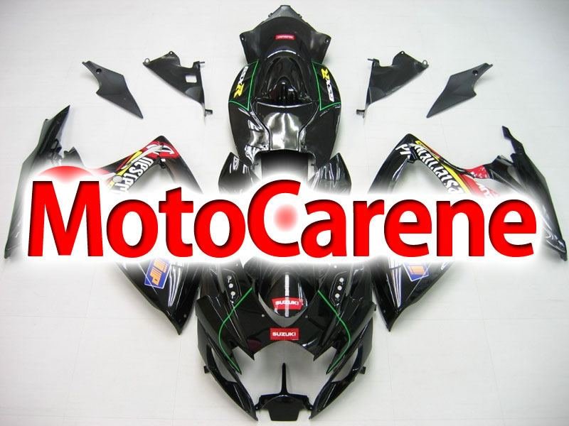 SUZUKI GSX 600 Anno 2006 2007 Carena ABS Kit Fairing Art 25 Nera Chesterfield