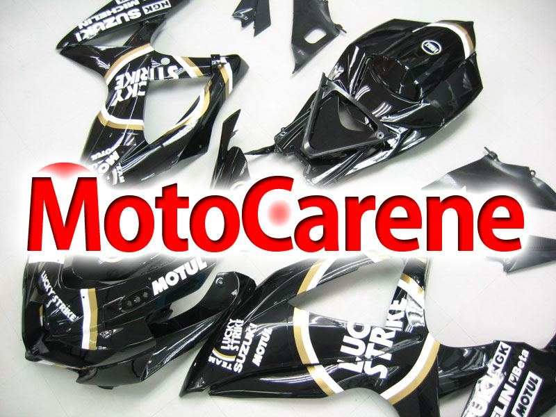 SUZUKI GSX 600 GSX 750 Anno 2008 2010 Carena ABS Kit Fairing Art 40 Lucky Strike Black Total