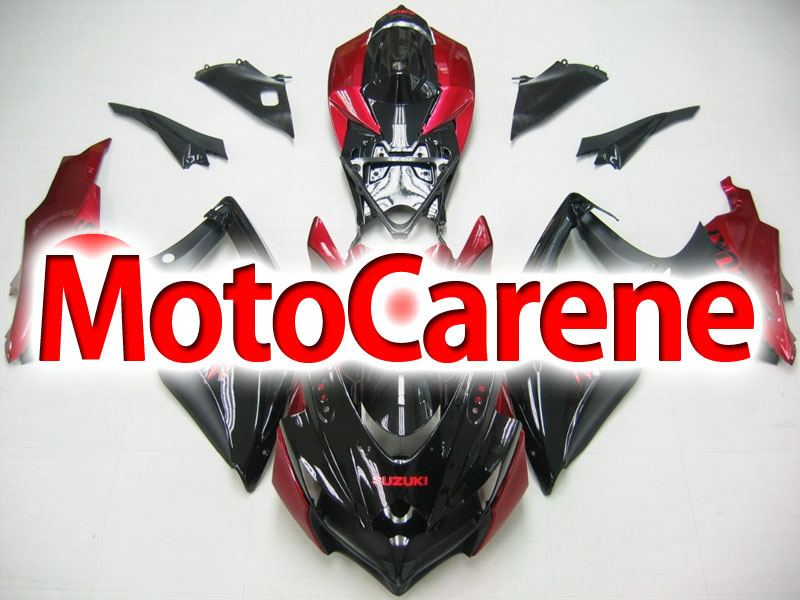 SUZUKI GSX 600- GSX 750 Anno 2008 2010 Carena ABS Kit Fairing Art 43 Black Devil