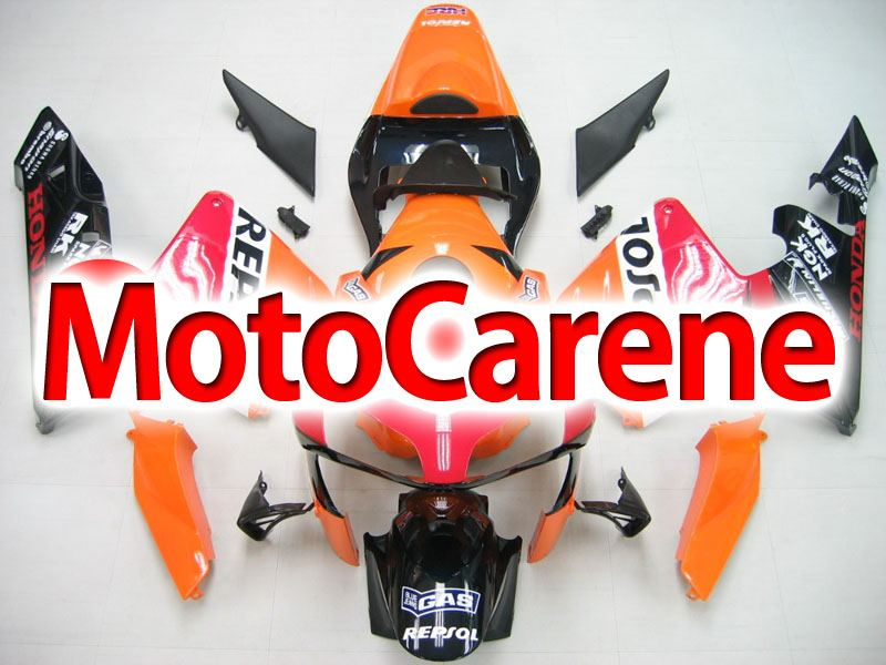 Honda CBR 600RR Fairing Kit Carena ABS Anno 2003 2004 ART.35 Repsol HRC Coda Orange