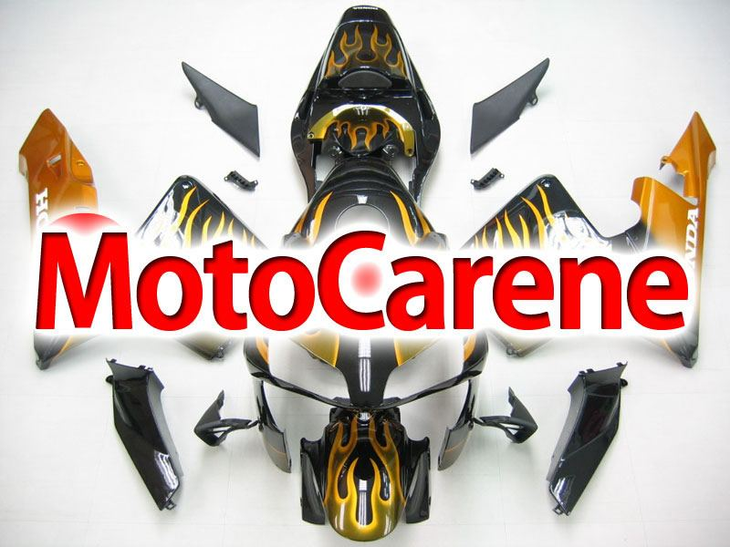 Honda CBR 600RR Fairing Kit Carena ABS Anno 03 04 Art. 42 Nero Fiamme Oro
