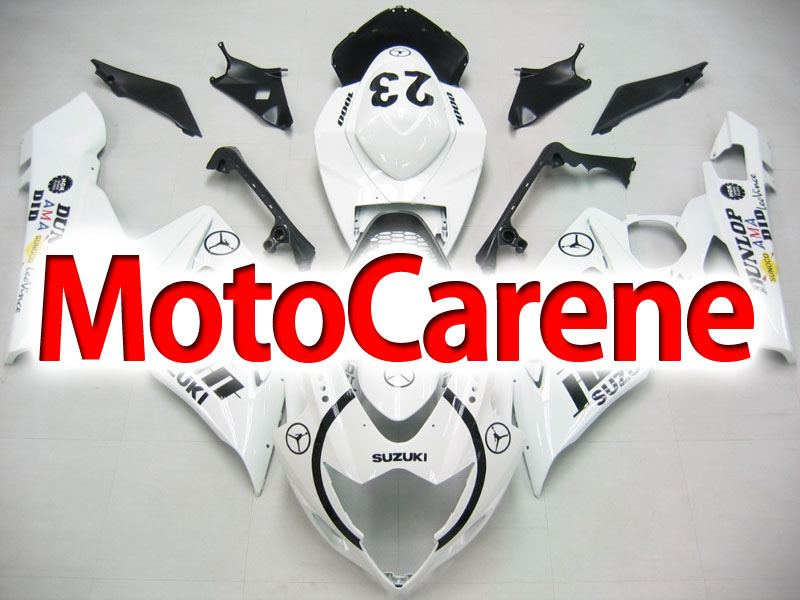 SUZUKI GSX 1000 Anno 2005 2006 Carena ABS Kit Fairing Art 24 bianca m Jordan 23