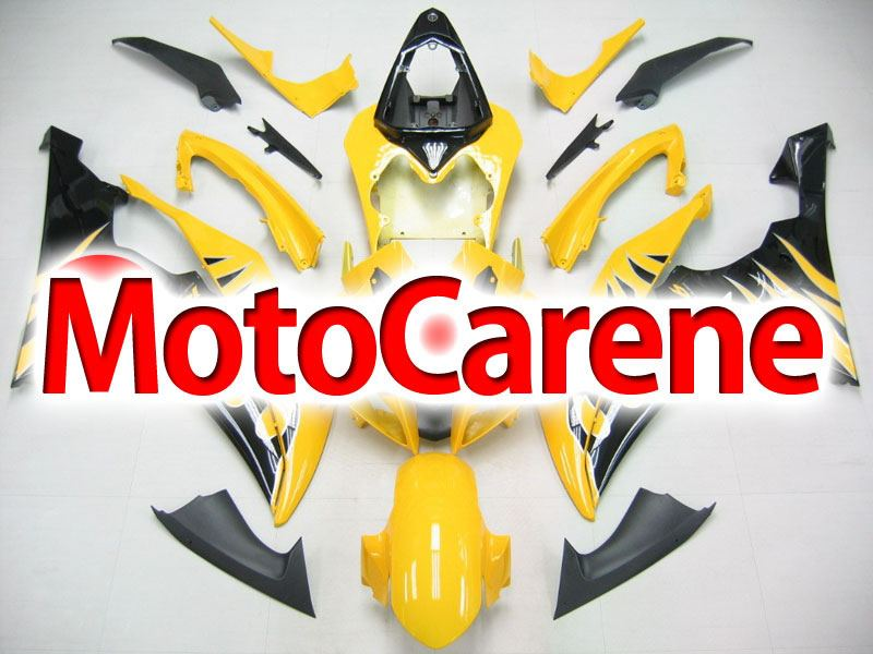 YAMAHA YZ-F R6 Carena ABS Anno 2008 2010 Kit Fairing Art 01 Giallo