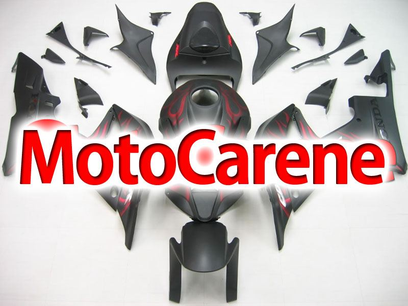 HONDA CBR 600RR Carena ABS Year 2007 2008 Fairing Art 22 Nera Opaco Fire red