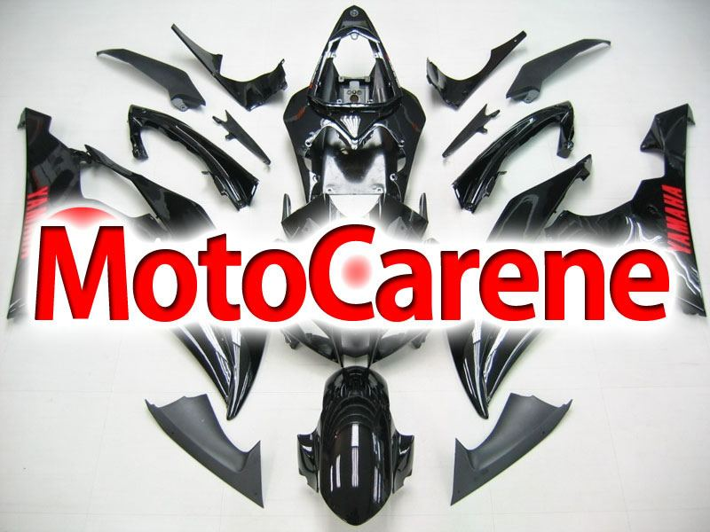 YAMAHA YZ-F R6 carena ABS anno 2008 2010 Kit fairing Art. 05 nero lucido