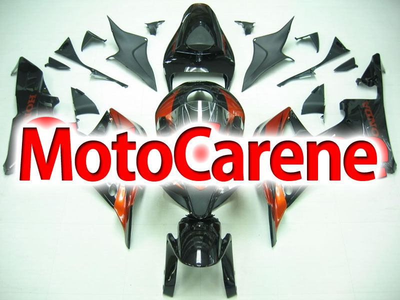 HONDA CBR 600RR Carena ABS Year 2007 2008 Fairing Art 40 Nero Mattone