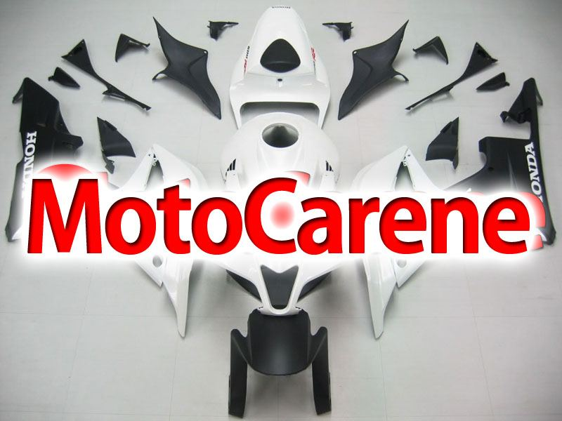 HONDA CBR 600RR Carena ABS Year 2007 2008 Fairing Art 41 Bianco Nera opaco